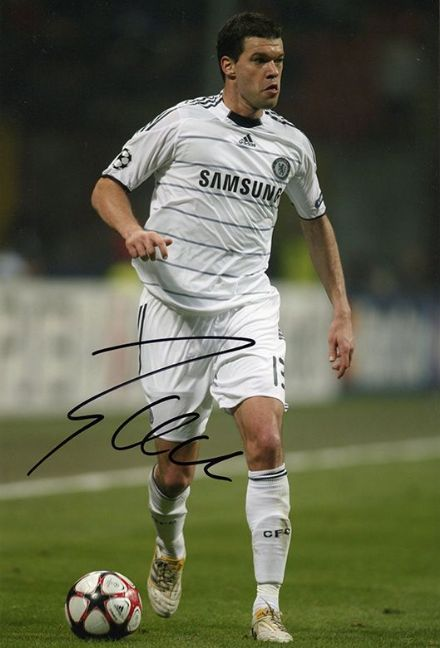 Michael Ballack, Chelsea & Germany, signed 12x8 inch photo.